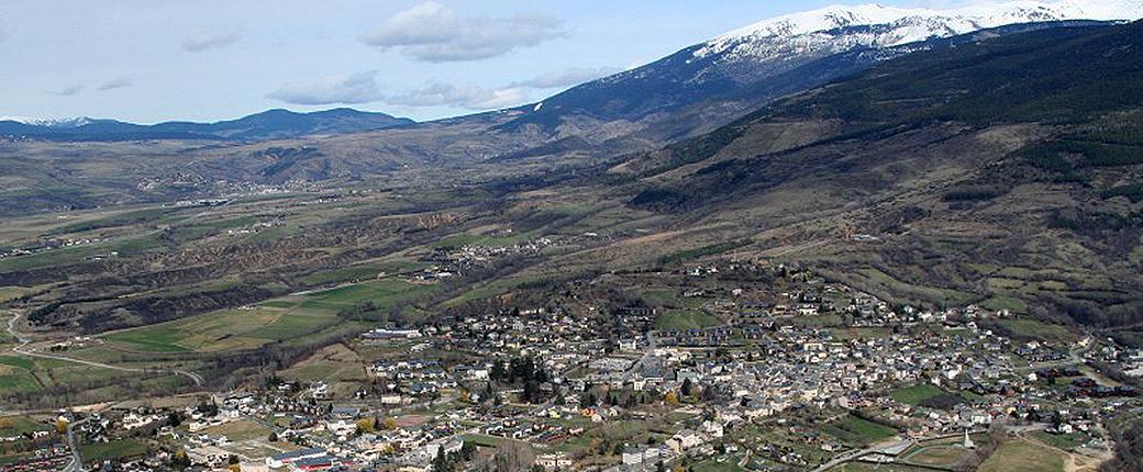 Vue aérienne d'Osseja